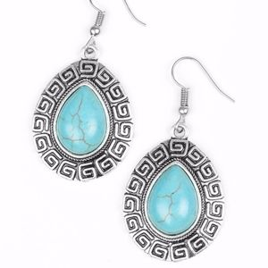 NWT Free with Bundle Tribal Tango Blue Earrings